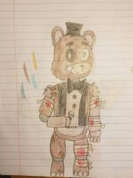 Stylized Withered Freddy by MegaEeveeX