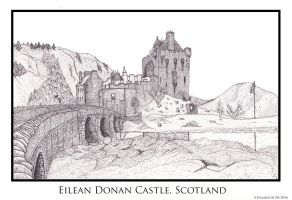 Eilean Donan Castle (Updated) by AHamiltonSketches