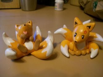 Kitsune Six and Seven by MilesofCrochet