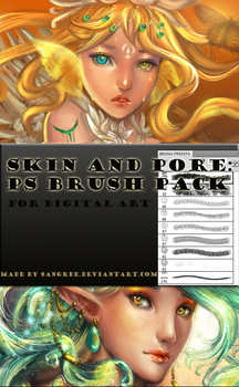 Skin Texture and Pore Brush by Sangrde