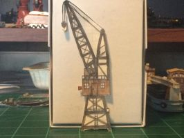 Old harbor gantry crane by Trains333
