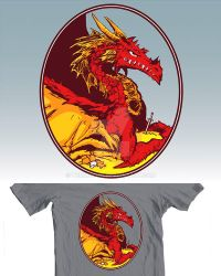 Red Dragon t-shirt design by tommullin