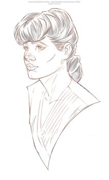 Rachel - Pencils by Jon-Moss