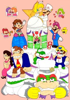 Mario and Peach's big wedding day by Iwatchcartoons715