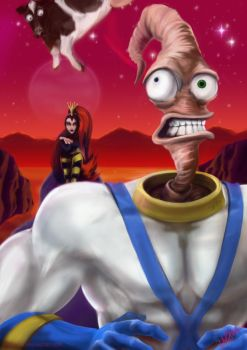 Earthworm Jim ! by c-r-o-f-t