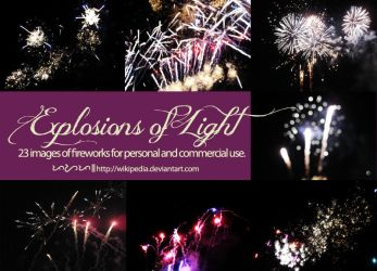 Explosion of Light [Fireworks Stock Image Pack] by Wikipedia