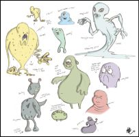 Monster Concepts by KilowattKatie