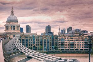 Millenium Bridge and St. Pauls Cathedral by Stefan-Becker