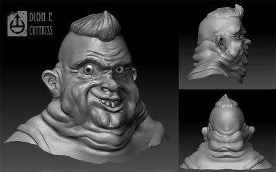 Bubba - 3D sketch by thadeemon