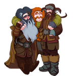 The Hobbit, Bifur, Bombur and Bofur. by Art-Calavera