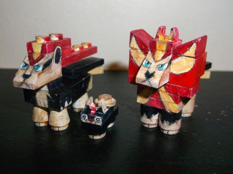 LEGO Pokemon: Litleo and Pyroar (Male and Female) by TommySkywalker11