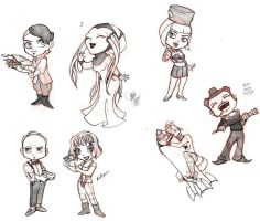 5th Element Chibis.. and a Tank by y2hecate