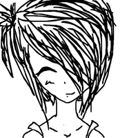 another uncolored girl!! by strangetail