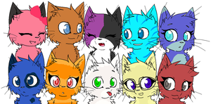 aphmau and friends as cats by lexa34