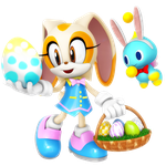 Cream The Rabbit Easter Outfit Render by Nibroc-Rock