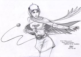 Jun of Gatchaman by deemonHunter360