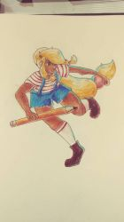 An Experiment With Poses and Coloured Pencils by Spinach-Bowl