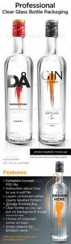 Professional Clear Glass Bottle Packaging by xgfxws