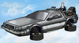 DeLorean Volador by AtlasMaximus