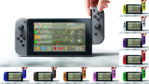 Nintendo Switch + nxOS [Concept - v2] by unkemptdoodlings
