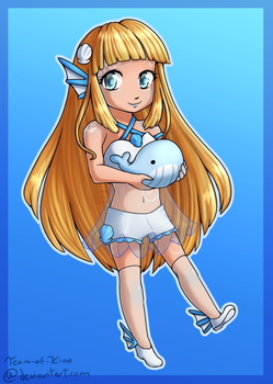 Raffle Prize - Princess of the Blue Waves by Tears-of-Xion