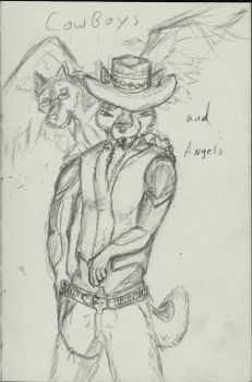 Cowboys and Angels by PizzaWolf