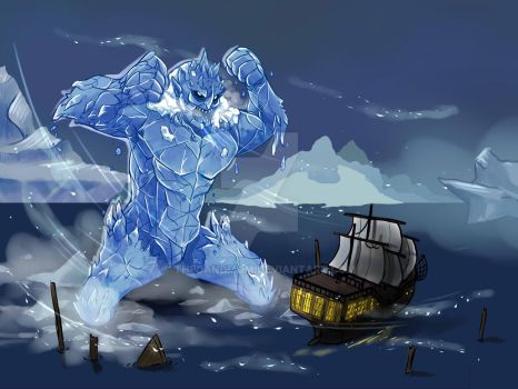 Ice Troll by thedandmom
