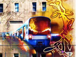 graffiti of the metro by choose-juicy