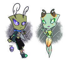 Irken and Vortian Set Price Adopts (CLOSE!) by Miikage