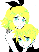 Kagamine Rin and Len by yesi-chan