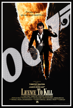 Licence to Kill - Fan Teaser Poster Number 2 by ChokaVonChicken