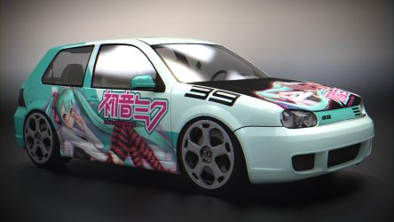 VW Golf R32 Mk4 (Stance) by BFG-9KRC