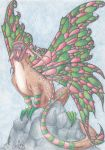 Christmas Faery Dragon by Scellanis