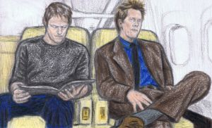 Norman Reedus meets Kevin Bacon by gagambo