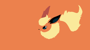 Flareon minimalistic wallpaper by Browniehooves