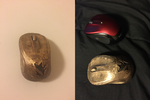 Bronze Mouse with LoL Jungling insignia by rachelmmangan