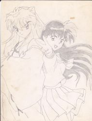 Inuyasha and Kagome by Balmonth