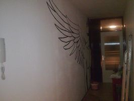 Original - Angel on the Wall by virago-rs