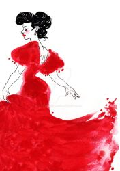 Lady in Red by FidisART