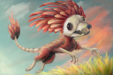 Feathered skull by dragnilu