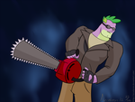 Spike Gets A Chainsaw by Acceleron