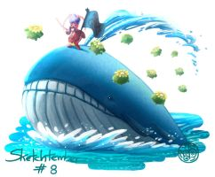Wailord, Kricketune and Skiploom.