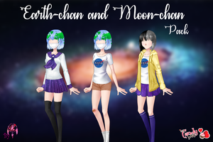 MCL pack- Earth-chan and Moon-chan by FNAFfanart67