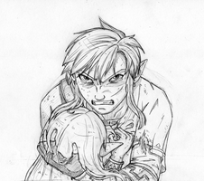 He'll pay for this! - sketch by zelda-Freak91
