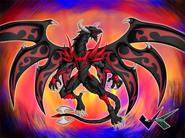 Commission: Red Eyes Hybrid Dragon by jadenkaiba