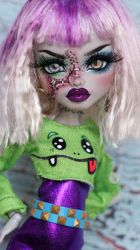 ~Sia~ Monster High Frankie Stein OOAK repaint by RogueLively