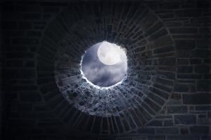 premade background - 007 Round Window by thalija-STOCK