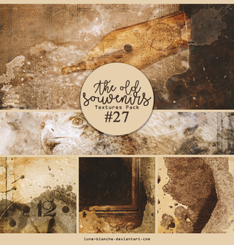 Textures pack #27 - The old souvenirs by lune-blanche
