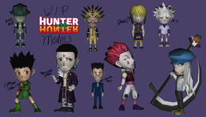 Some papercrafts W.I.P (Hunter x Hunter models) by RavaMaster