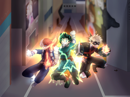 The Next Big Three - BNHA by GypsyCuddles